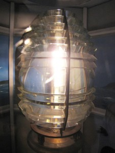 Figure 2.2 This original Alpena Lighthouse 4th Order Fresnel Lens  on display at the Grand Traverse Lighthouse Museum